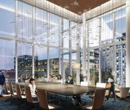 The East Meeting Room of the Renasant Convention Center features floor-to-ceiling windows with views of downtown Memphis
