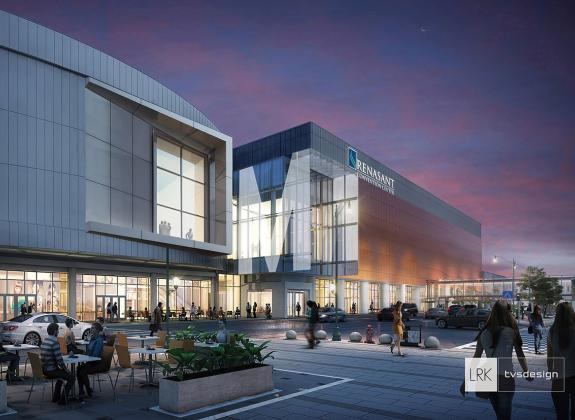 A rendering of the Main Street Concourse at Memphis' Renasant Convention Center