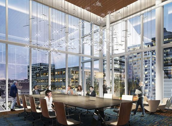 A rendering of the Memphis Board Room at Memphis' Renasant Convention Center