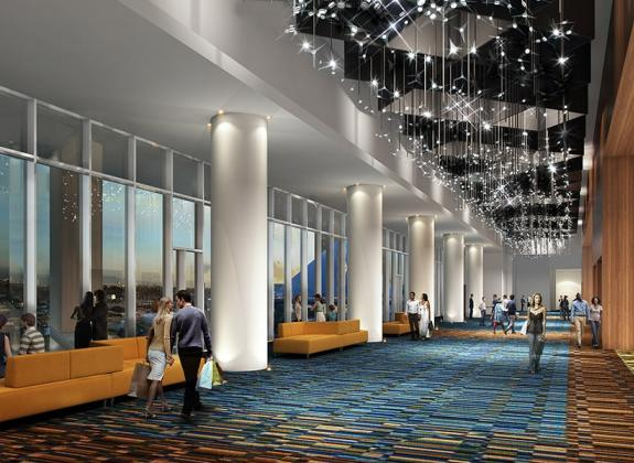 A rendering of the West Pre-Function space at Memphis' Renasant Convention Center